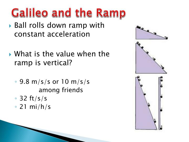 Galileo and the Ramp