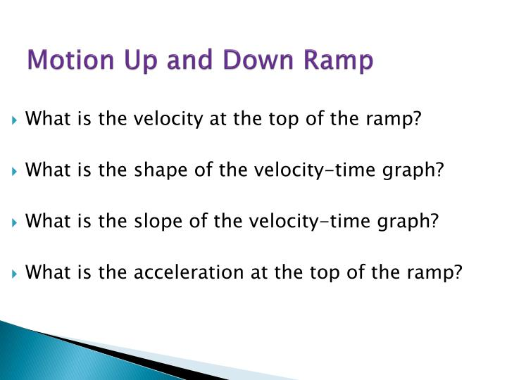 Motion Up and Down Ramp