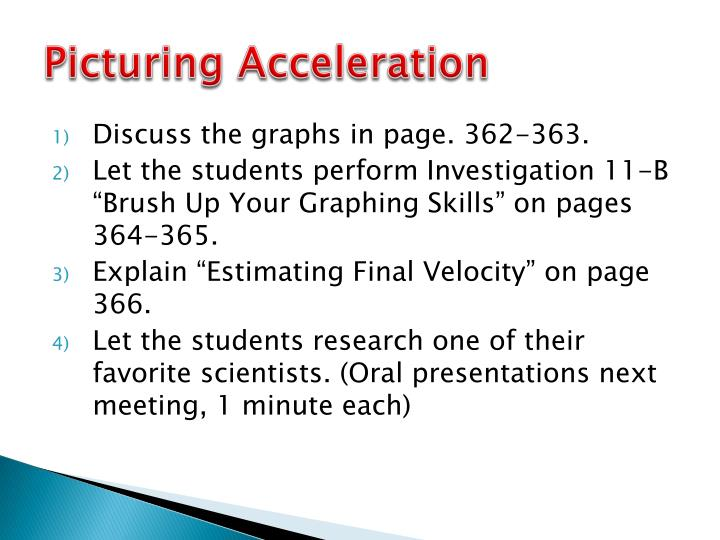 Picturing Acceleration