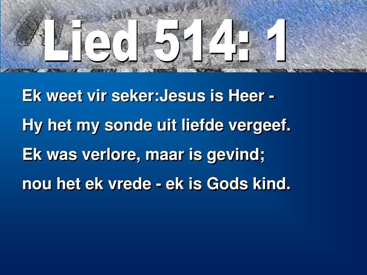Lied 514: 1