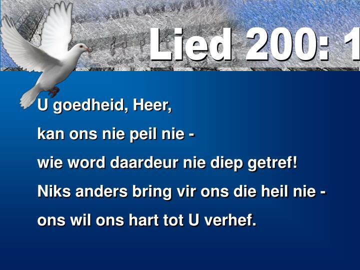 Lied 200: 1