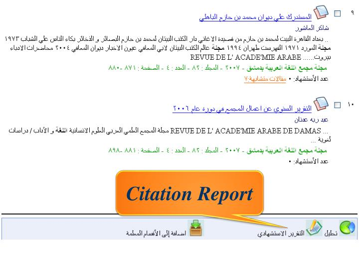 Citation Report