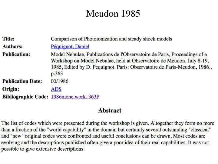 Meudon 1985