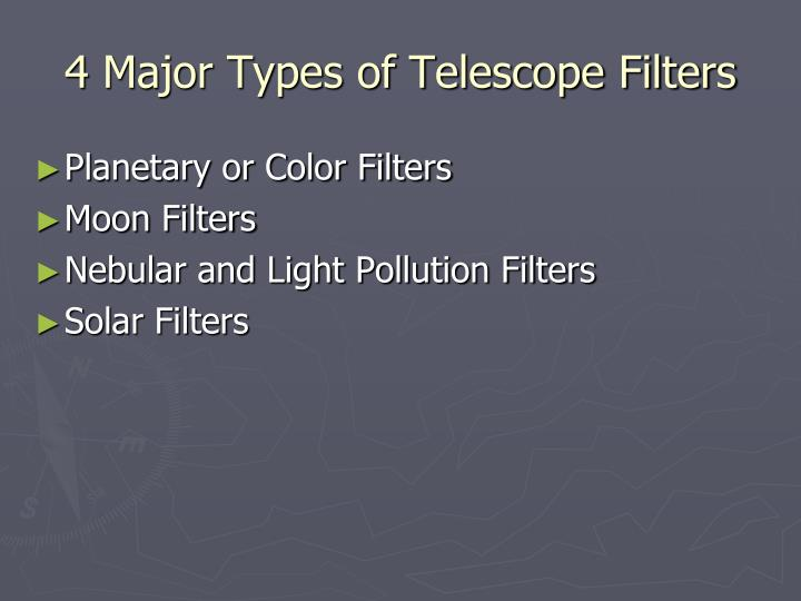4 Major Types of Telescope Filters