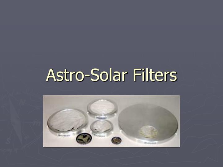 Astro-Solar Filters