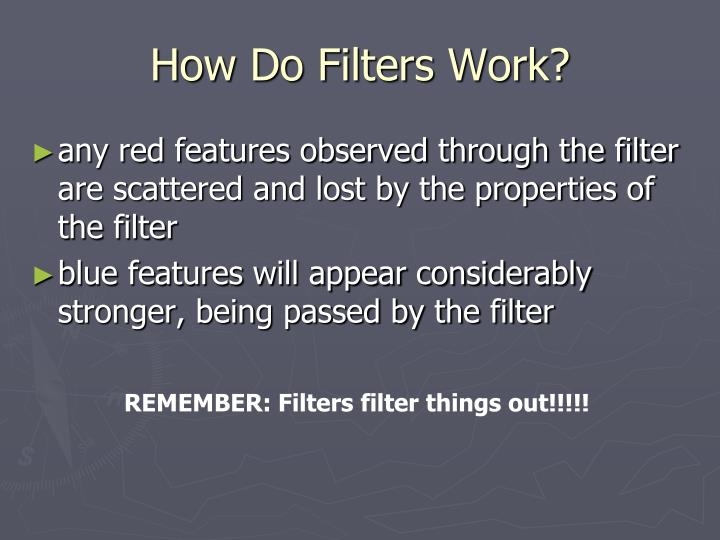 How Do Filters Work?