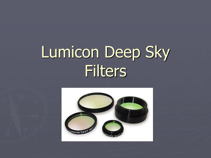 Lumicon Deep Sky Filters