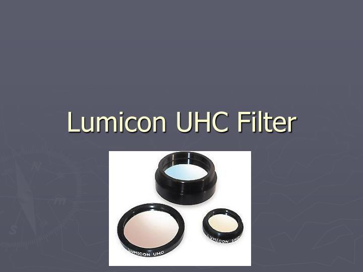 Lumicon UHC Filter