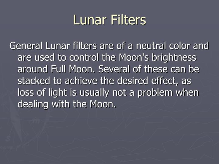 Lunar Filters