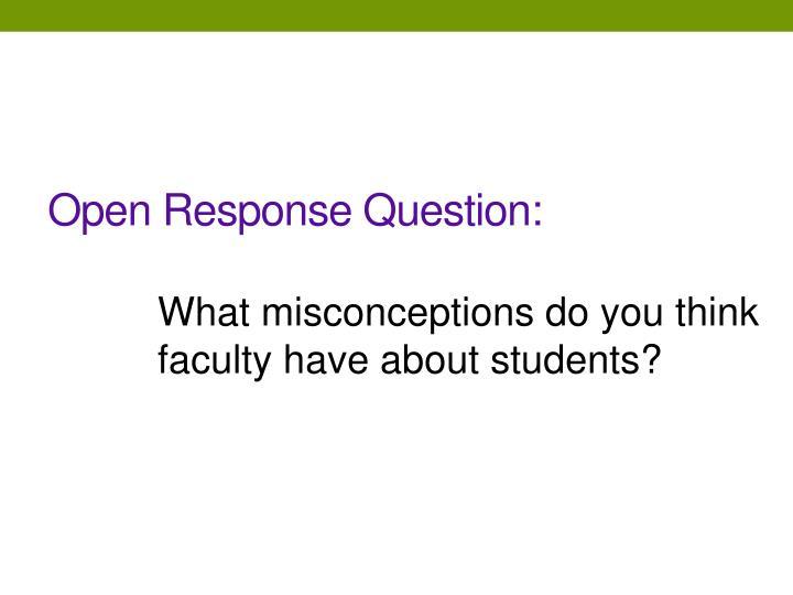 Open Response Question: