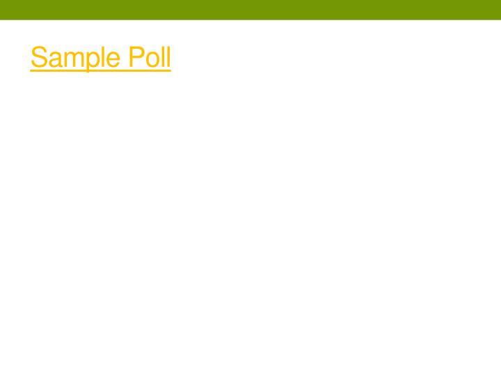 Sample Poll
