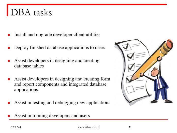 DBA tasks
