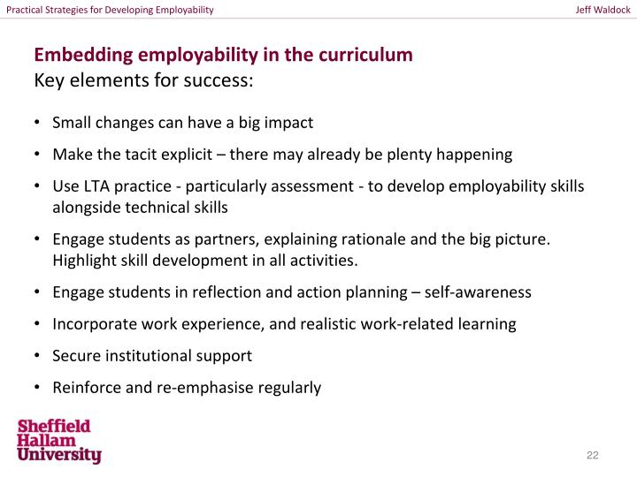 Practical Strategies for Developing Employability