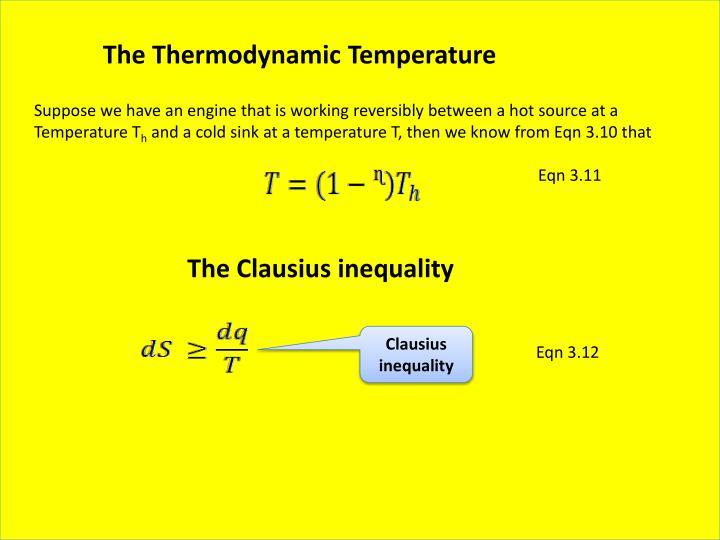 The Thermodynamic Temperature