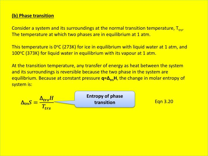 (b) Phase transition