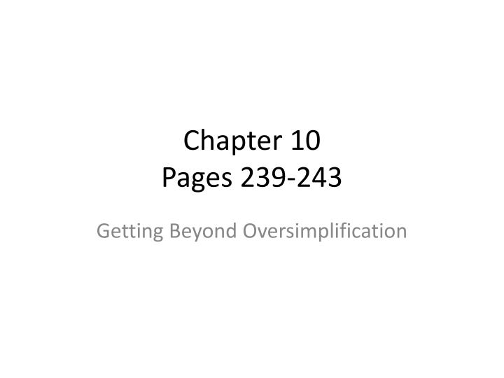 Chapter 10 pages 239 243