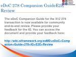 edoc 278 companion guidee2e review
