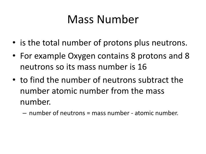 Mass Number
