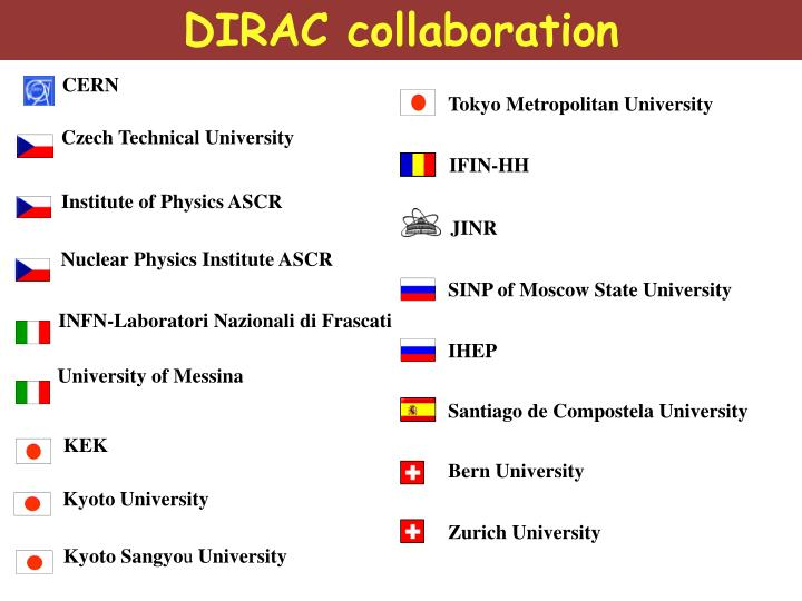 DIRAC collaboration