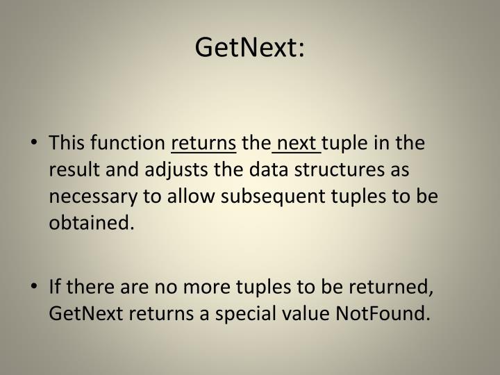 GetNext: