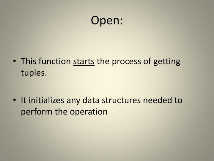 Open: