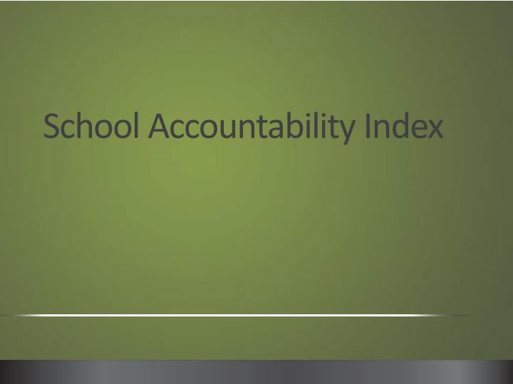 School accountability index