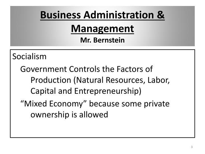 Business Administration & Management