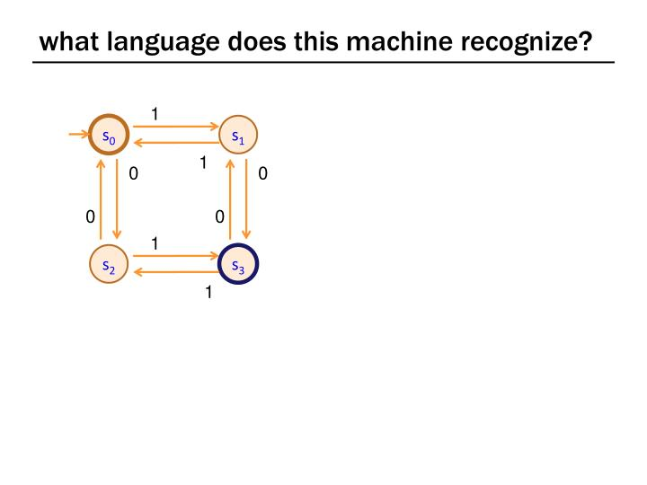 what language does this machine recognize?