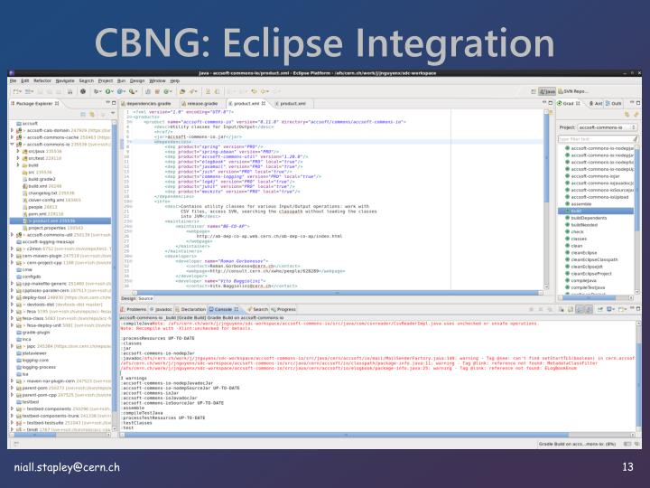 CBNG: Eclipse Integration