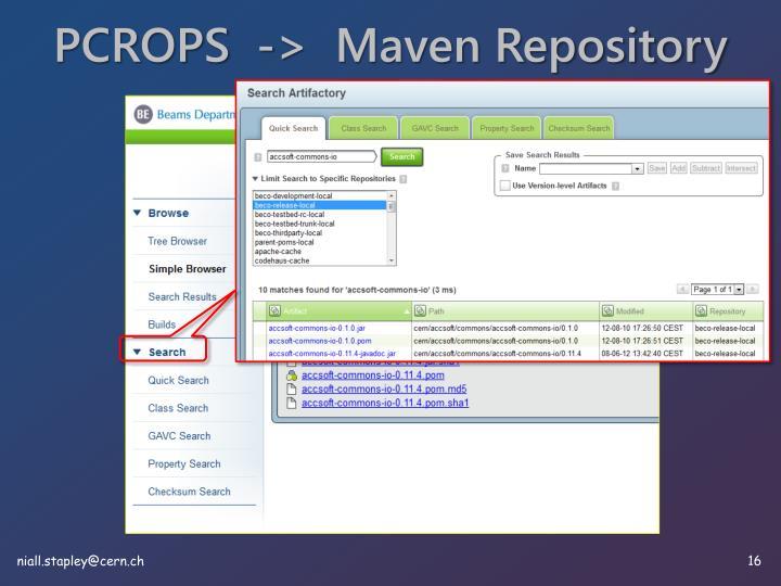 PCROPS  ->  Maven Repository