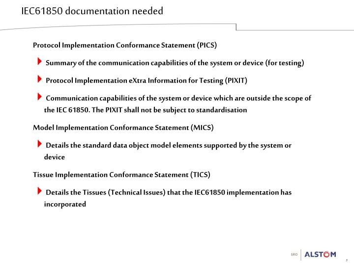 IEC61850 documentation needed