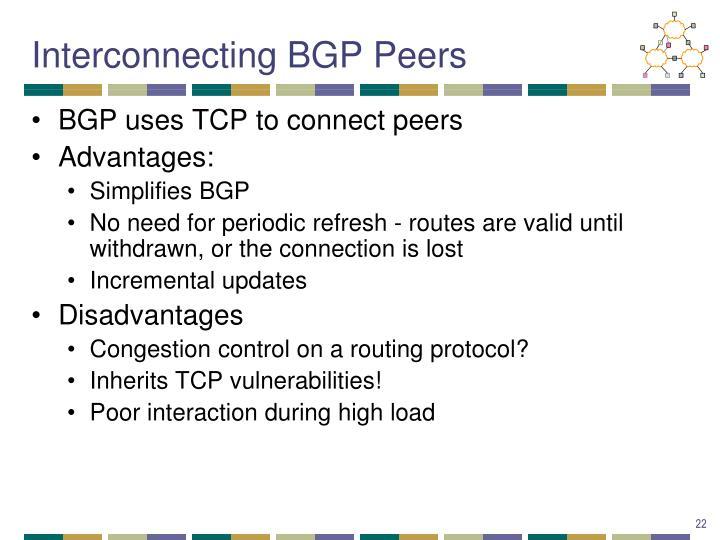 Interconnecting BGP Peers