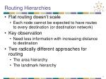 routing hierarchies