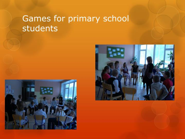 Games for primary school students