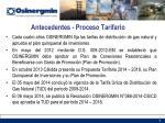 antecedentes proceso tarifario