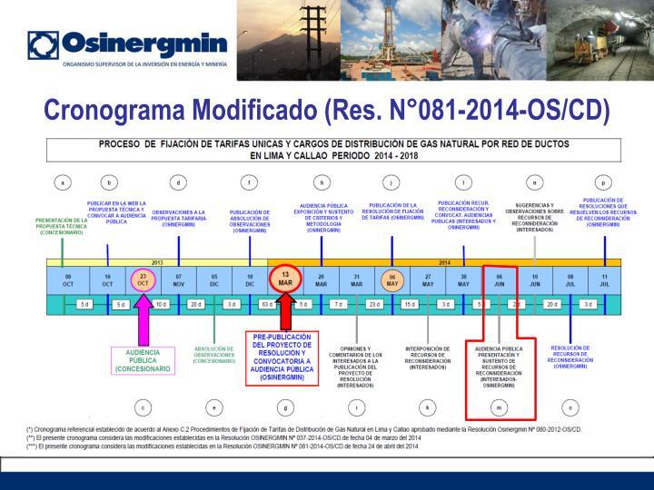 Cronograma Modificado (Res.
