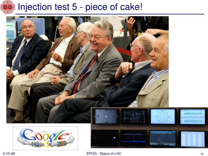 Injection test 5 - piece of cake!