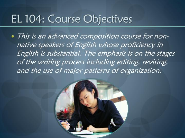 El 104 course objectives