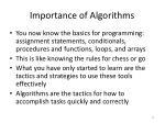 importance of algorithms