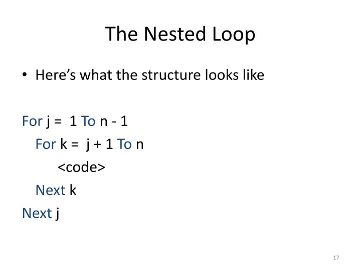 The Nested Loop