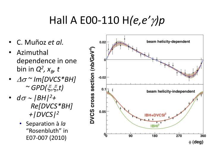 Hall A E00-110 H