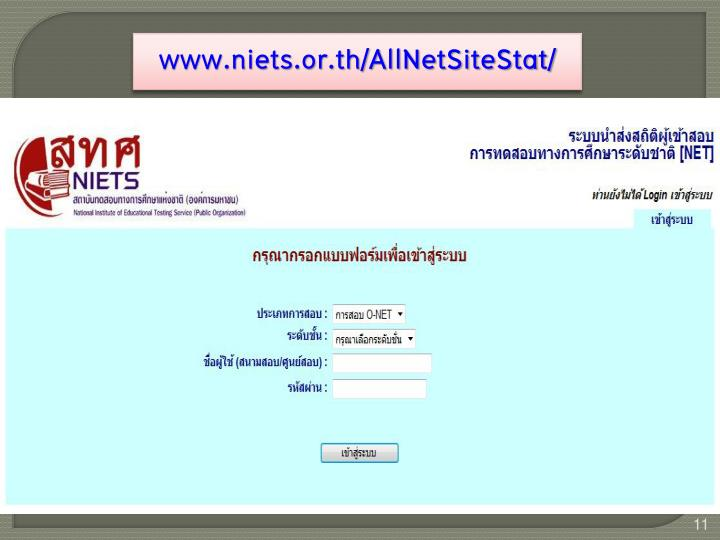 www.niets.or.th/AllNetSiteStat/