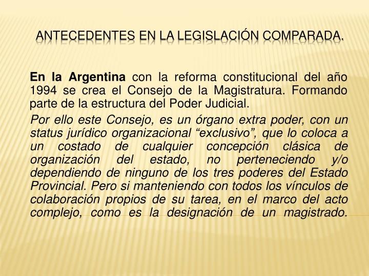 En la Argentina