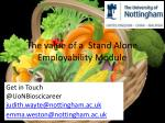the value of a stand alone employability module