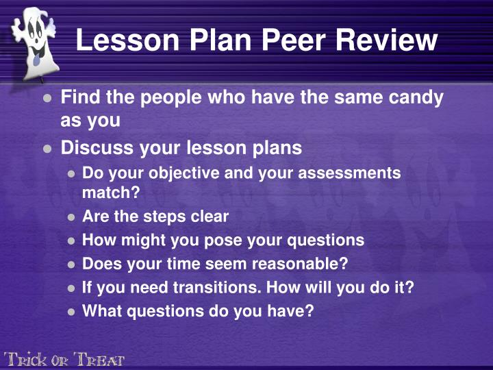 Lesson Plan Peer Review