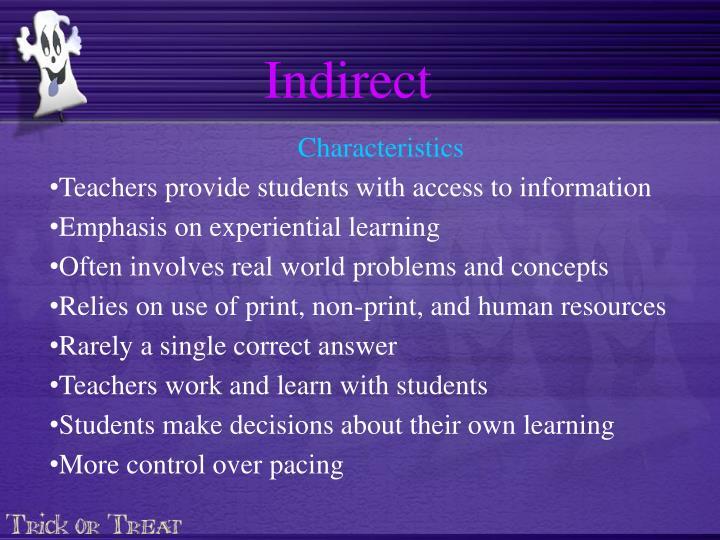 Indirect