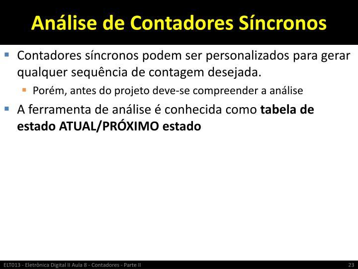 Análise de Contadores Síncronos