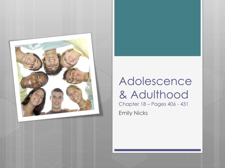 adolescence and adulthood essay