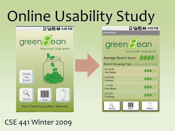 Online Usability Study