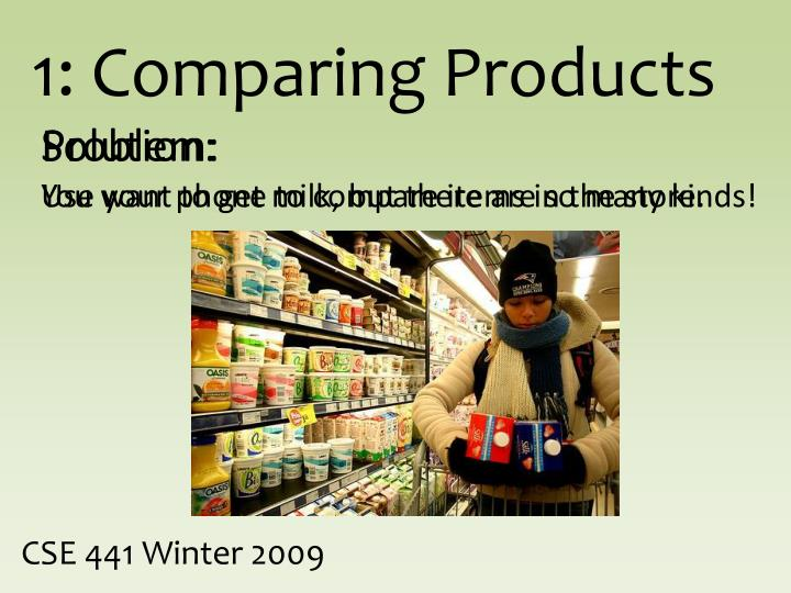 1: Comparing Products